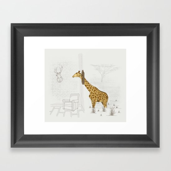 Natural Decorative Thophy Framed Art Print