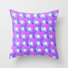 Purple Pink Throw Pillow