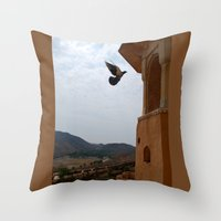 wings Throw Pillows featuring Wings by Nyay Bhushan