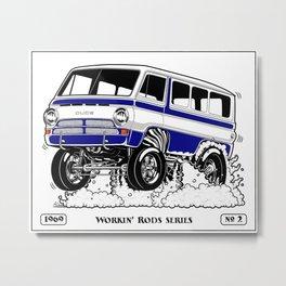 1969 GASSER VAN – Rev 2 BLUE Metal Print