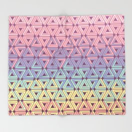 Holographic Candy Geometric Throw Blanket