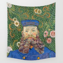Portrait of the Postman by Vincent van Gogh Wall Tapestry
