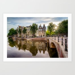 View of Amsterdam after sunrise Art Print