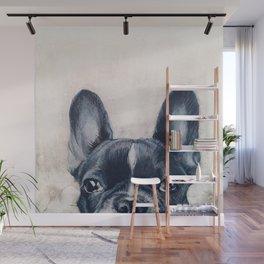 Hand painting French Bulldog Dog illustration original painting print Wall Mural