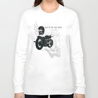 cafe racer Long Sleeve T-shirts featuring Rise of the Cafe Racer by RiseoftheCafeRacer