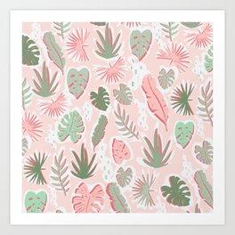 Tropical cut out pattern Art Print