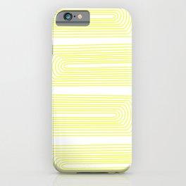 Minimalist, line art pattern, scandivian, modern minimal, sunny yellow iPhone Case