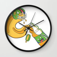 The Sports Drinker Wall Clock