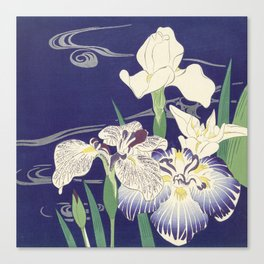 Japanese Iris Print, Tsukioka Kôgyo, 1890 Canvas Print