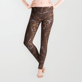 Abalone shell mosaic with a geometric kaleidoscopic design Leggings