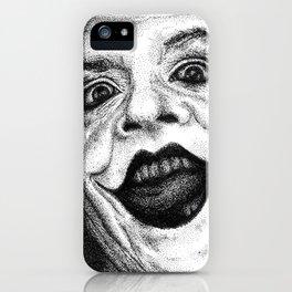 Jack Nicholson Joker Stippling Portrait iPhone Case