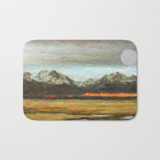 Abstract Andean Landscape Bath Mat