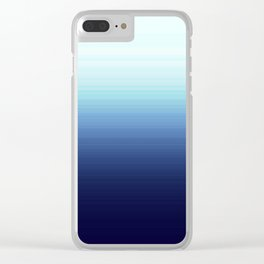 Nautical Blue Ombre Clear iPhone Case