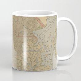 Vintage Map of Brooklyn NY (1911) Coffee Mug