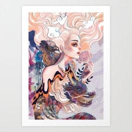 Dragon and Eagle Art Print