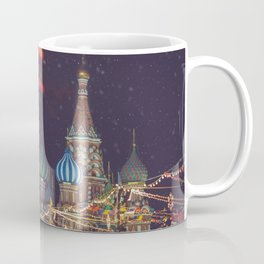 New Year and Christmas celebration in Moscow, Russia Coffee Mug