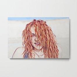 Red Hair Art  Metal Print