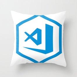 visual studio code sticker Throw Pillow