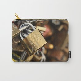 Padlock at Love Bridge in Paris Carry-All Pouch