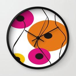 Circles of Color Wall Clock