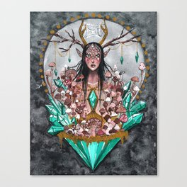 Crystal Fae Witch Canvas Print