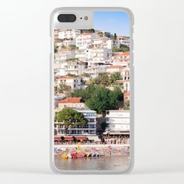 Small beach Ulcinj Clear iPhone Case