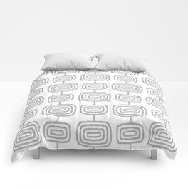 Mid Century Modern Atomic Rings Pattern Gray 3 Comforters
