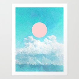 Adventure through the icy clouds Art Print