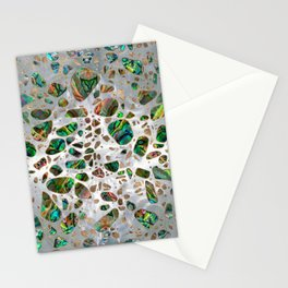 Terrazzo - Mosaic Abalone Pearl and Gold #4 Stationery Cards