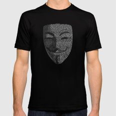 ...You May Call Me 'V' – So who's Anonymous? Mens Fitted Tee Black LARGE