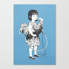 Rooster Girl Canvas Print