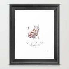 lightning bolt cats are better Framed Art Print