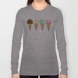 Ice Cream Pattern Long Sleeve T-shirt