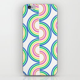 White Neon Wave iPhone Skin
