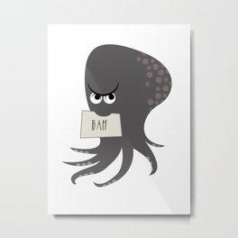 Squid of Contempt Metal Print