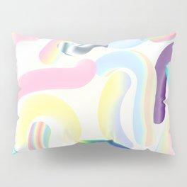 Pastel Rainbow Worms 1. Pillow Sham