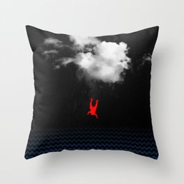 every time I dreAm of fallinG Throw Pillow