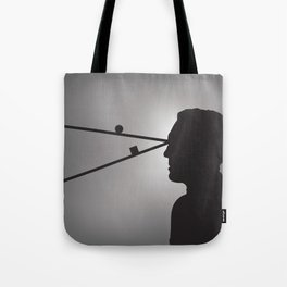 The Prisoner is Being Tested Tote Bag