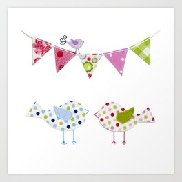 Birds in a party Art Print