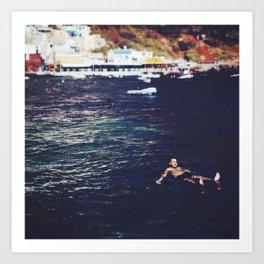 swim for your life Art Print