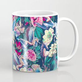 Unicorn and Floral Pattern Coffee Mug