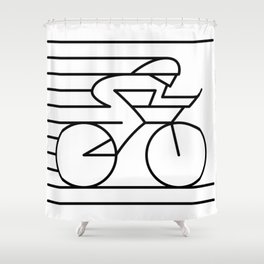 Road Biker Shower Curtain