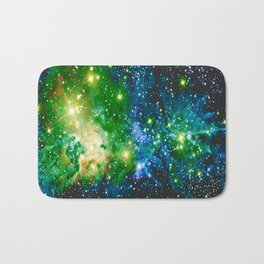 Fox Fur Nebula Teal Green Bath Mat