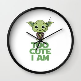 STARWARS Cute Yoda Baby Onesie Wall Clock