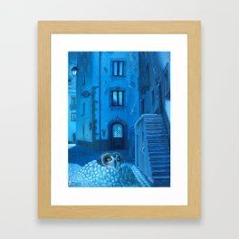 Will the night ever fall down? Framed Art Print
