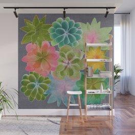 Watercolor Succulents Wall Mural