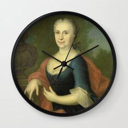 Conrad Kuster - Portrait of Cornelia van Schuylenburgh, Wife of Diederik van Bleyswijk Wall Clock