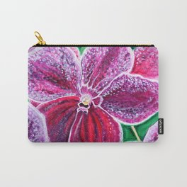 Purple Orchid Bloom Carry-All Pouch