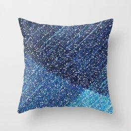 Zima Blue Alpha Throw Pillow