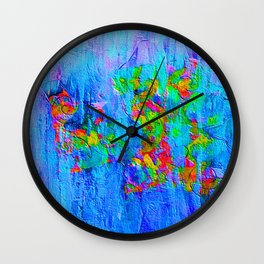 Blue Wash Jazzy Abstract Wall Clock